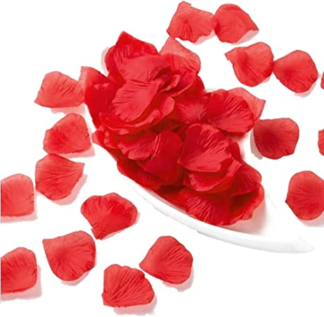 100pc//set Artificial Silk Rose Petal for Valentine/'s Day Wedding Party Decor UK