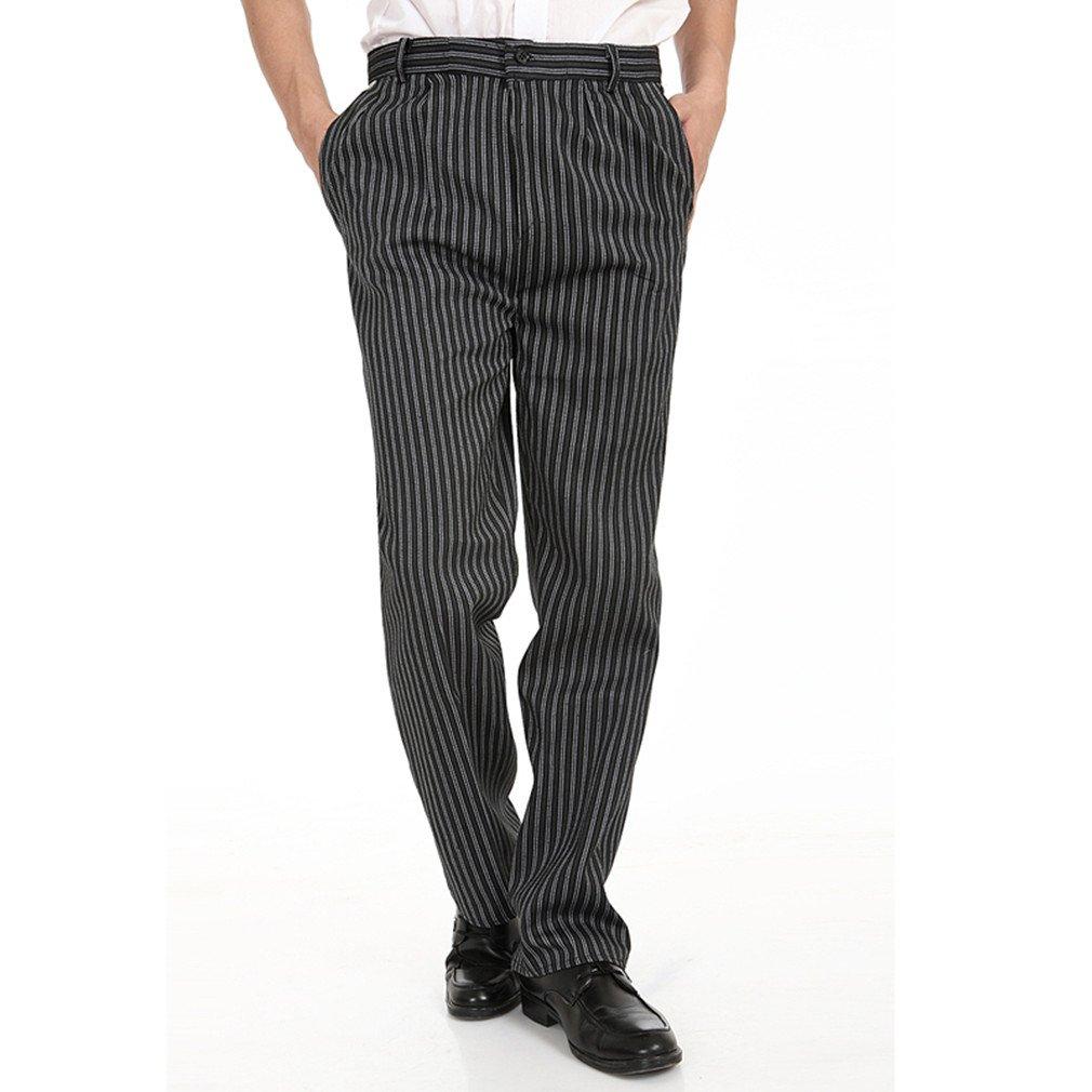 WAIWAIZUI Pantalone da Cuoco Pantaloni da Chef Nero