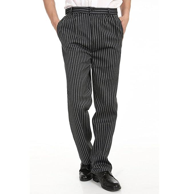 WAIWAIZUI Pantalone da Cuoco Pantaloni da Chef Nero  Amazon.it ... 42e591b9eeec