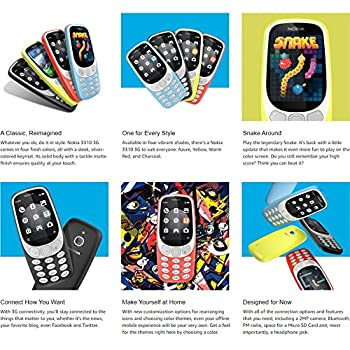 Nokia 3310 3G - Unlocked Feature Phone (AT&T/T-Mobile/MetroPCS/Cricket/H2O) - 2.4