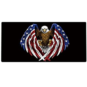 Cmhoo XXL Professional Large Mouse Pad & Computer Game Mouse Mat (35.4x15.7x0.1IN, US Eagle)