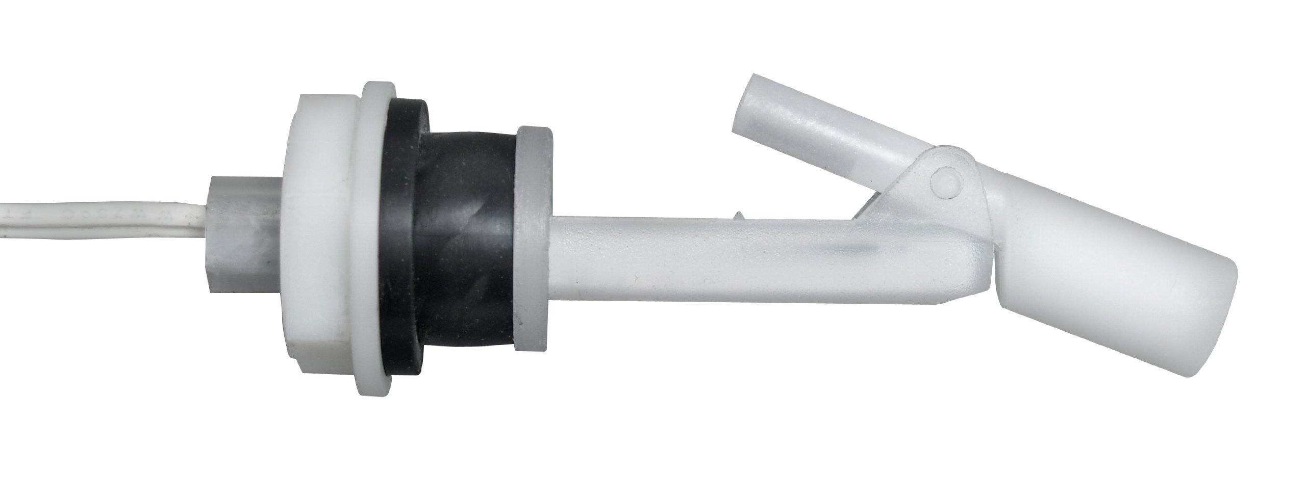 Madison M8790-14/4184 Plastic Side-Mounted Liquid Level Float Switch with Polypropylene Stem and Nitrile Compression Gasket, 30 VA SPST, 5/8-11 UNC, 100 psig Pressure