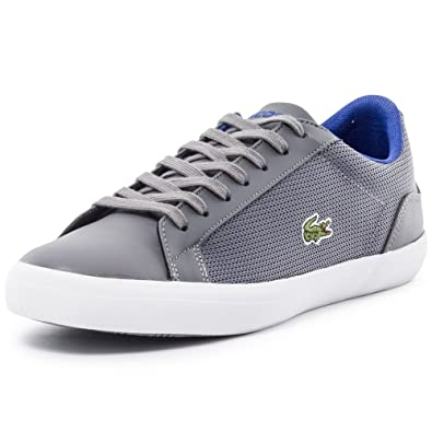 07d7557f95e9 Lacoste Mens Mens Lerond 116 1 SPM Trainers in Grey - UK 7  Amazon ...