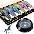 Holographic Chrome Nail Powder - iMethod Premium Salon Grade Rainbow Unicorn Mirror Effect Multi Chrome Manicure Pigment