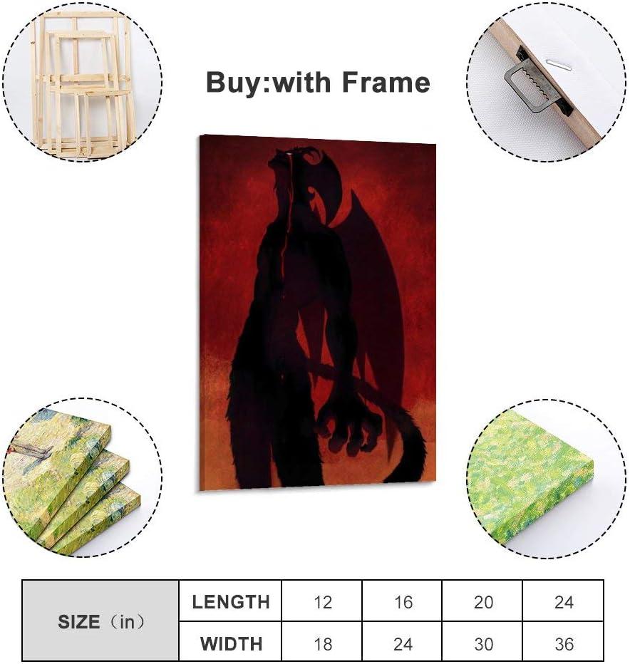 Huihuang Devilman Crybaby P/óster de lienzo 30 x 45 cm
