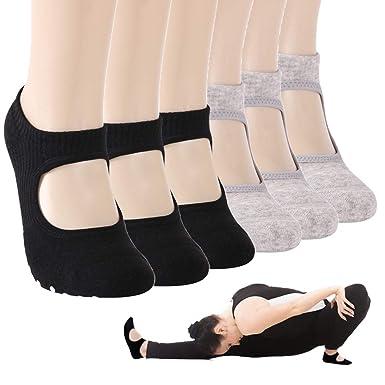 ea72eb767 Women Socks Low Cut, Gmall Yoga and Pilates Exercise Shoes Non Slip Grip  Socks for