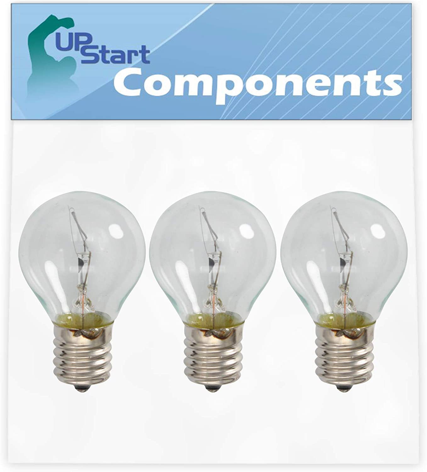3-Pack 8206443 Light Bulb Replacement for Whirlpool & Kenmore/Sears Microwaves - Compatible with Part Number AP3886256, 1178018, AH1156014, EA1156014, PS1156014, Y0053422 Microwave Light Bulbs
