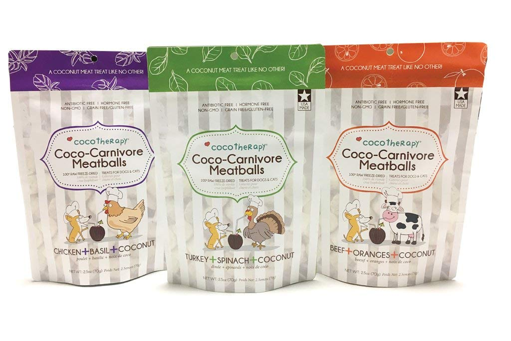 CocoTherapy Coco-Carnivore Meatballs Dog Treats (Variety) by CocoTherapy