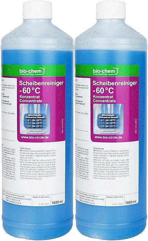 Bio Chem Scheibenreiniger 60 C Sparpack 2x1000 Ml Konzentrat Scheibenfrostschutz Scheiben Enteiser Auto