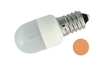ElectroDH 12486AB DH BOMBILLA LED ROSCA E14 3 LEDS AMBAR