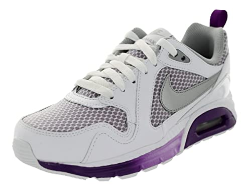 Nike Womens Air Max Trax Running Trainers 631763 Sneakers Shoes (US 7, White Bright Grape Metallic Silver 102)