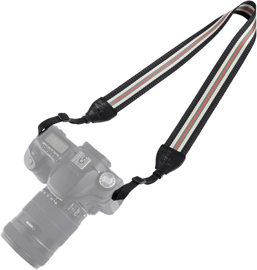 Stripe Style Series Shoulder Neck Strap Camera Strap for SLR//DSLR Cameras Reliable Color : Beige
