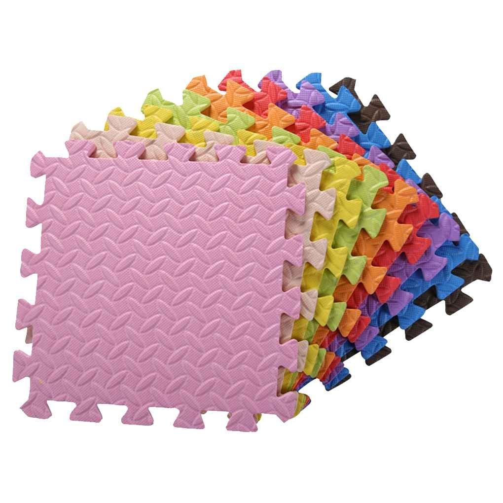 Bobury 17pcs Esterilla de Espuma de Ocho d/ías con tableros para ni/ños Puzzle Mat Alfombra de Juegos de Espuma para Enclavamiento para beb/és