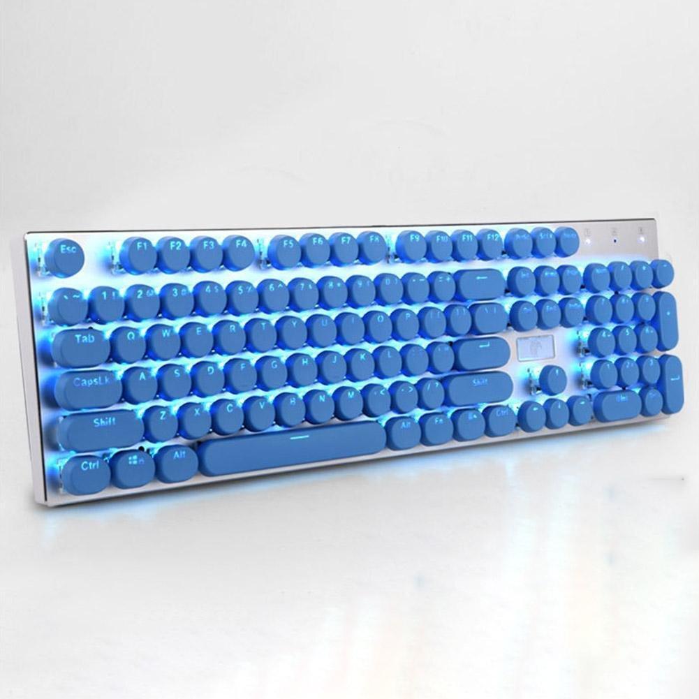 BALANCEYG 1PC Typewriter Keycap Coloaful DIY Mechanical Keyboard 104keys Retro Vintage ABS Steam Punk Style Crystal Gaming Only Key Cap Keycap