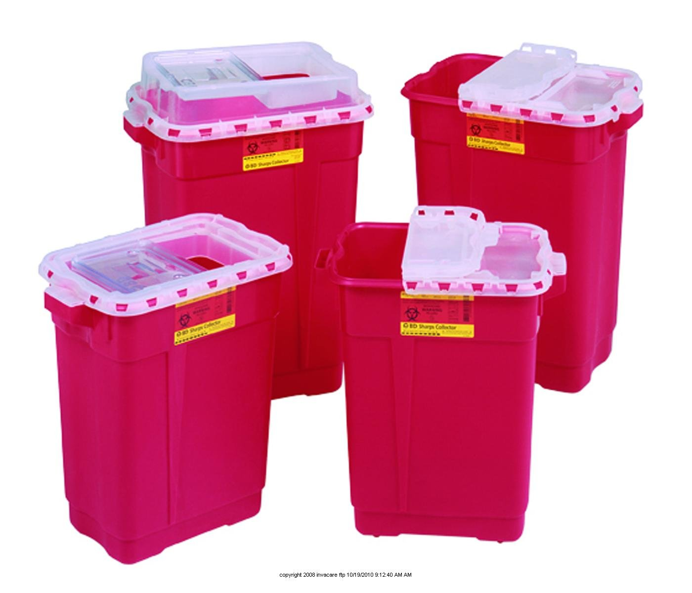 BD Extra Large Regulated Medical Waste Collectors, Sharps Clctr Slg 17 Gal Red, (1 CASE, 5 EACH)