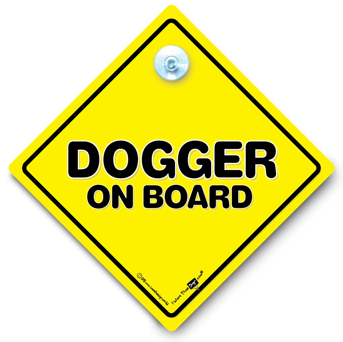 Dogger On Board Car Sign Joke Car Signage Rude Car Signs Baby On Board Style Suction Cup Car Window Sign