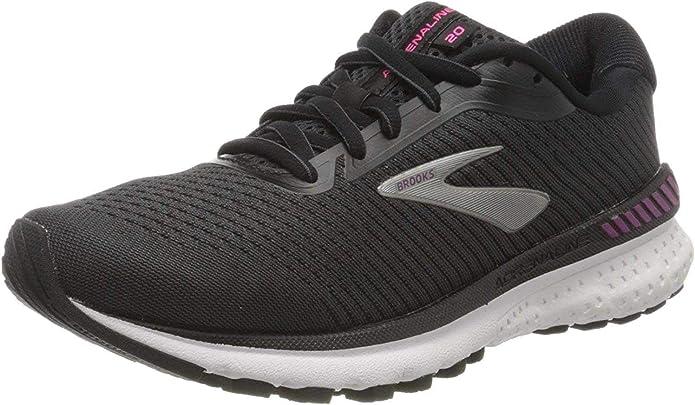 Brooks Adrenaline GTS 20, Zapatillas de Running por Mujer, Negro (Black/White/Hollyhock 041), 45.5 EU: Amazon.es: Zapatos y complementos