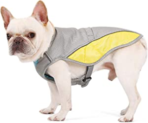 Uheng Pets Dogs Evaporative Swamp Cooler, Cooling Vest Chillz Coat Jacket for Summer Indoor Outdoor Running Walking Hunting Training Camping, Prevent Overheating and Dehydration