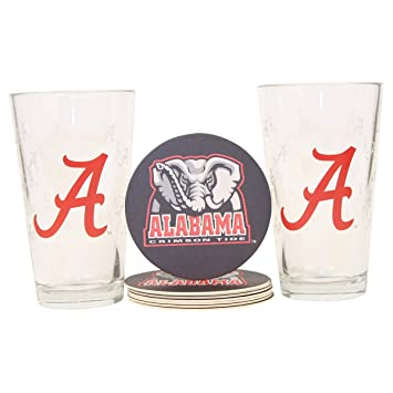 Alabama Crimson Tide Pint and Coaster Set