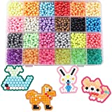 WOWsweet- DIY Fuse Beads Kit 21 Colors 4200 Beads Refill Water Spray Beads Magic Water Sticky Beads Art Crafts Toys for Kids (21 Colors 4200 Pcs)