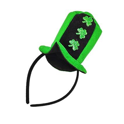 5a1406261 Amazon.com: Kids St Patrick's Day Headband 3PCS Green Shamrock Hair ...