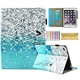 iPad 9.7 2017/iPad Air (iPad 5)/ iPad Air 2 Case (2nd Gen), UUcovers Synthetic Leather [TPU] Stand Folio Wallet Case Magnetic Cover [Auto Sleep Wake] for iPad Air 1 / 2 /New iPad 9.7 2017, Air Bubbles