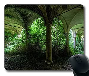 Gaming Mouse Pad Abandoned Places Oblong Shaped Mouse Mat Design Natural Eco Rubber Durable Computer Desk Stationery Accessories Mouse Pads For Gift Support Wired Wireless or Bluetooth Mouse