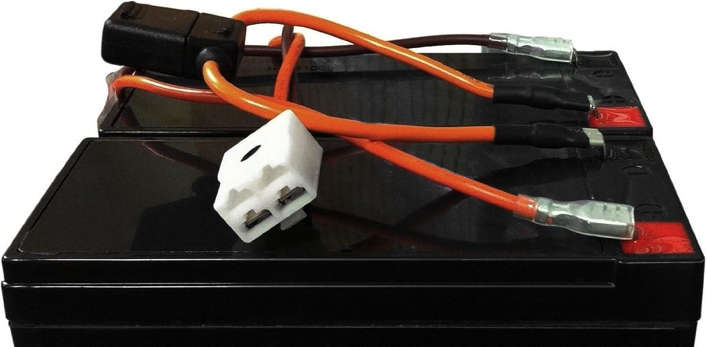 Razor Dirt Quad Battery Wiring Harness Easy Slide On Terminals No  Soldering! - Basic Handheld Flashlights - Amazon.com | Battery Wiring Harness |  | Amazon.com
