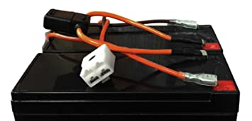 61ITfsFVDoL._SX355_ amazon com razor mx350, mx400 dirt rocket, razor battery wiring wire harness for 350 mack dynatard at fashall.co