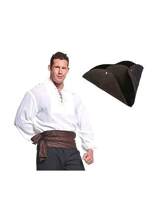 Amazon.com  Wonder Costumes Pirate Shirt and Hat Man Kit  Clothing f8cf54507