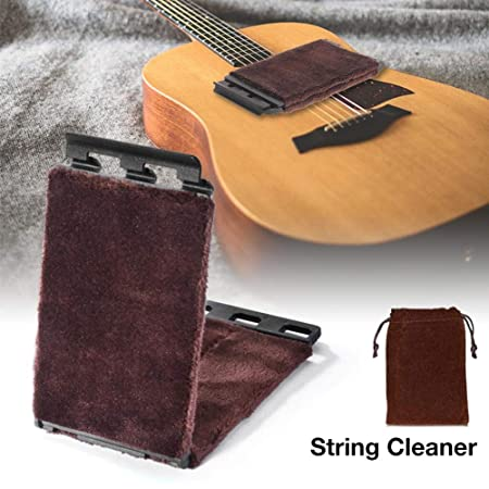 PEALO Limpiador de Cuerdas Guitarra Diapasón Limpieza 360 Grados ...