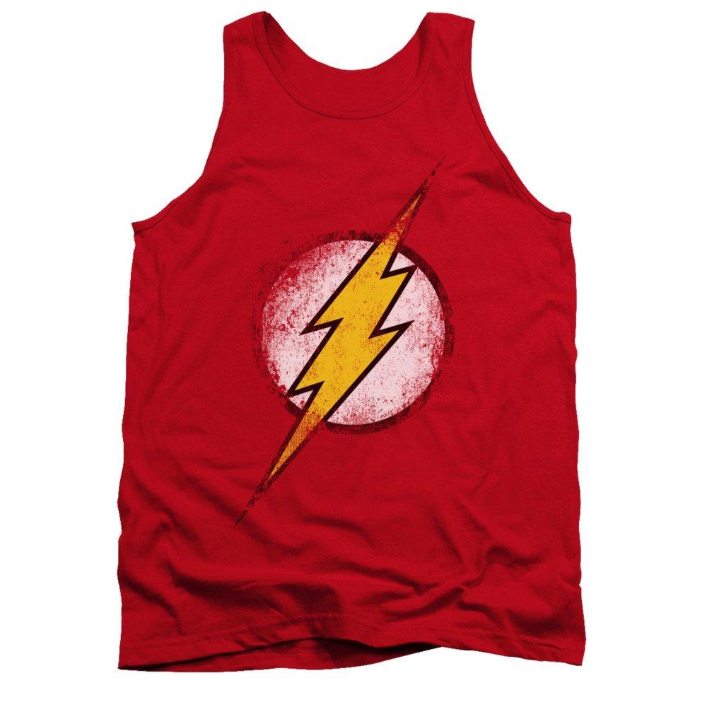 Justice League DC Comics Destroyed Flash Logo Adult Tank Top Shirt Trevco