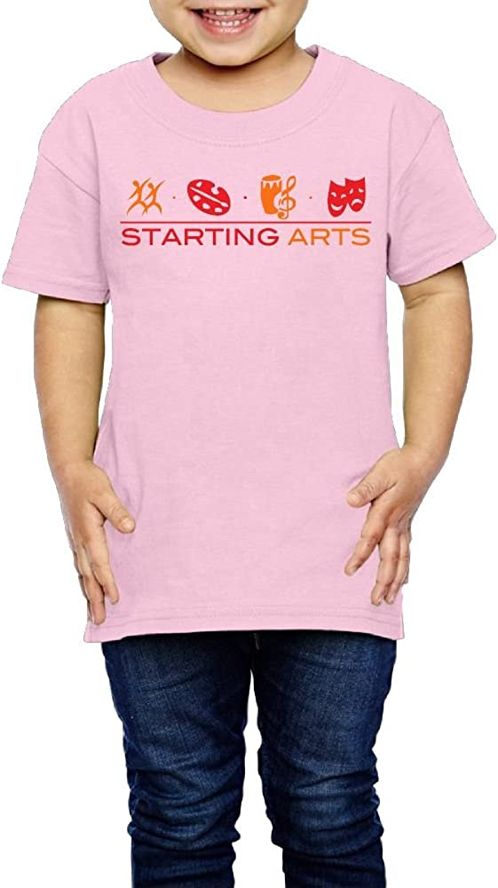 Yishuo Kids Starting Arts Baseball Classic Outdoor T-Shirt Short Sleeve Pink 3 Toddler