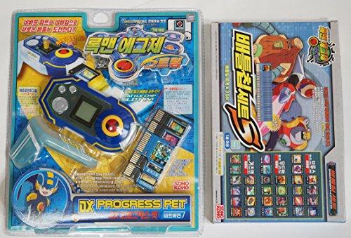 TAKARA Rockman EXE (Mega Man) : DX PROGRESS PET BLUE & BATTLE CHIP (30EA) SET by Takara