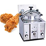 Genmine Commercial Electric Countertop Pressure Fryer Pressure Fryer For Chicken 16L 2400W Commercial Electric Countertop Pre