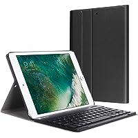Fintie Bluetooth Tastatur Hülle für iPad 9.7 Zoll 2018 2017 / iPad Air 2 / iPad Air - Ultradünn leicht SlimShell Ständer Keyboard Case mit magnetisch abnehmbarer drahtloser deutscher Tastatur, Schwarz