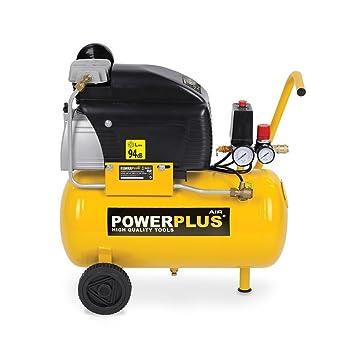 Powerplus 24L Aceite engrasada 7,8 CFM, 8 Bares (116PSI) Compresor De