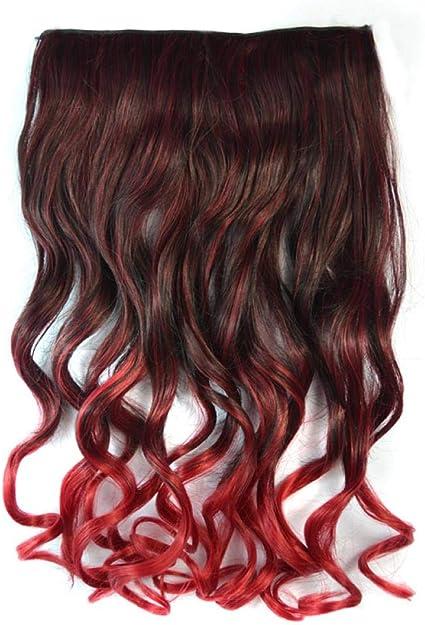 Peluca femenina de una pieza, pelo largo y rizado, onda ...