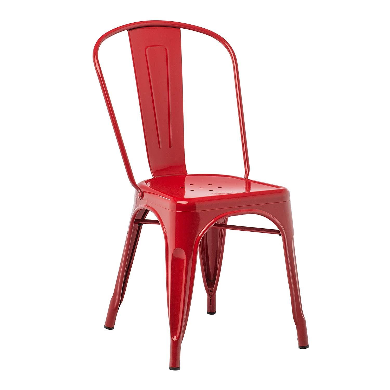 Silla comedor Silla cocina Silla jardin Silla terraza comoda ligera resistente color rojo Roja Todo de Rojo