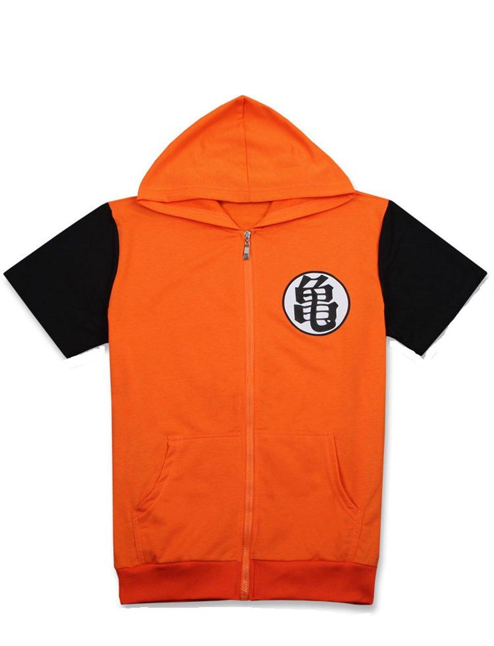 COSAUG Dragon Ball Hoodie Short Sleeves Coat Jacket (XL) by COSAUG