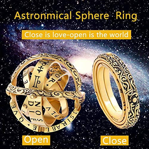 2019 New Astronomical Finger Foldable Ring Astronomical Ball Cosmic Ring Couple Lover Jewelry Gifts