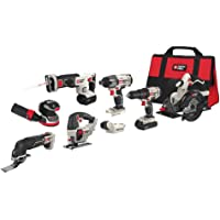 Porter-Cable PCCK6118 20V MAX Lithium Ion 8-Tool Cordless Drill Combo Kit