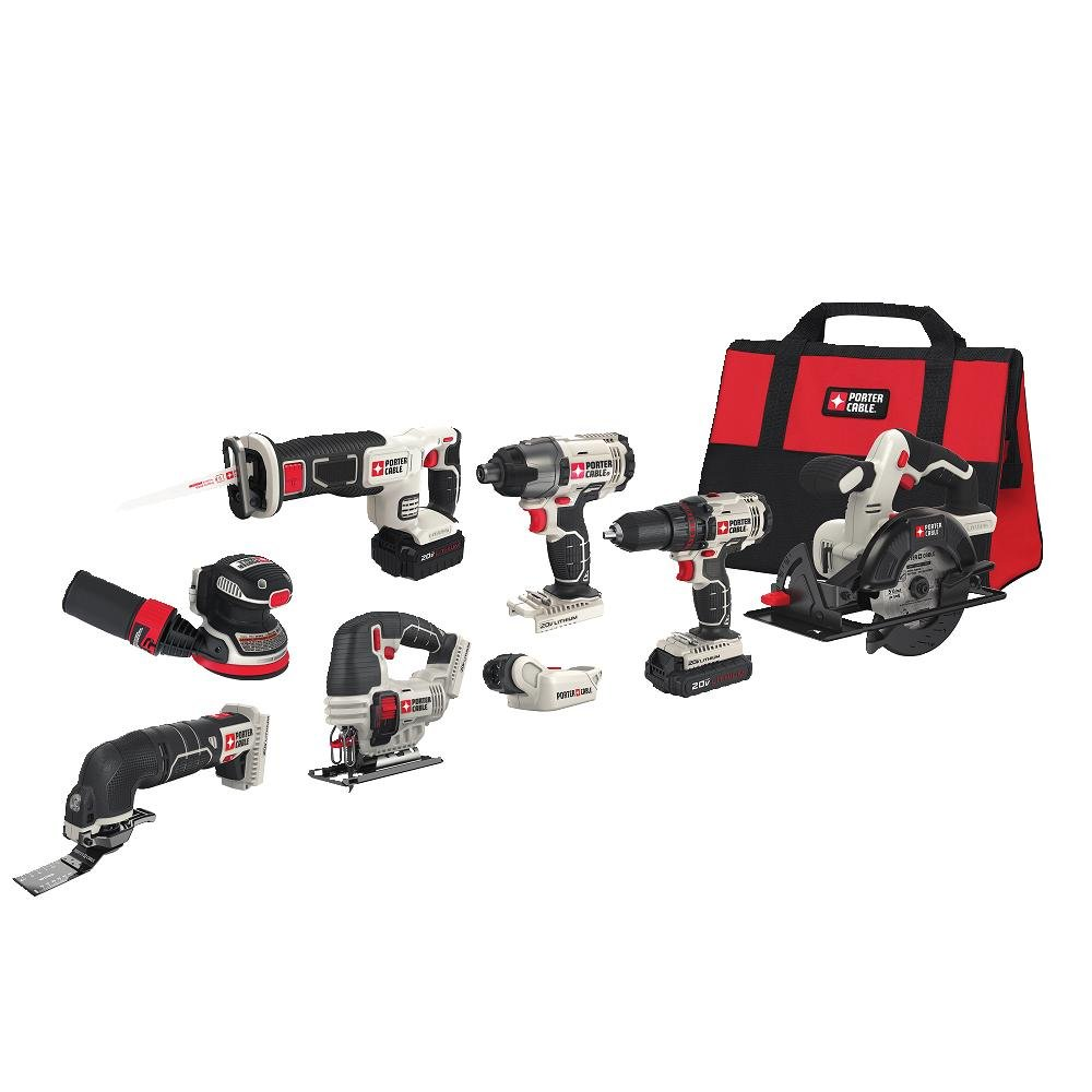 PORTER-CABLE PCCK6118 20V MAX Lithium Ion 8-Tool Combo Kit by PORTER-CABLE (Image #10)