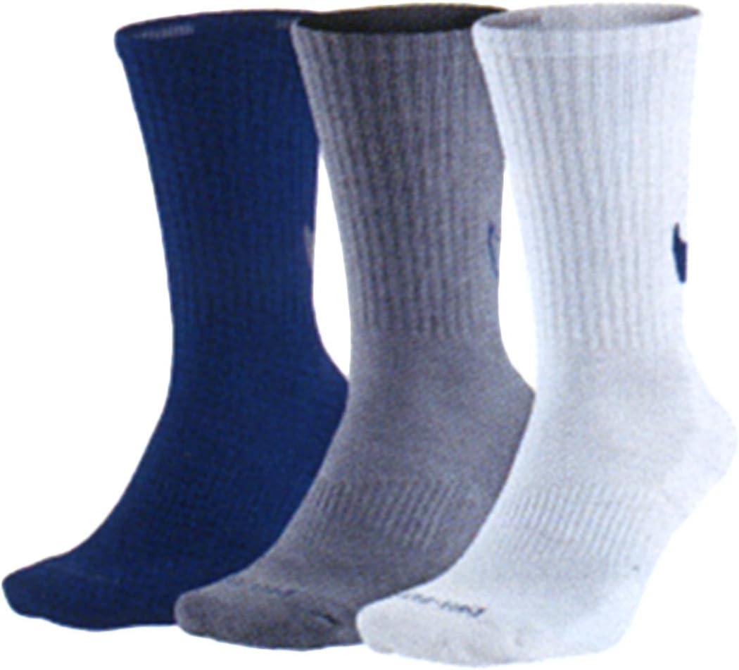 Nike Dri-FIT Cotton Swoosh HBR Crew Sock 3-Pair Pack Multicolor