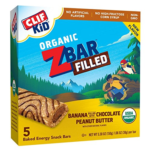 - CLIF ZBAR FILLED Banana Filled with Chocolate & Peanut Butter Baked Energy Snack Bars 5.30oz, pack of 1