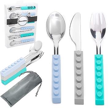 Amazon.com: Juego de utensilios de acero inoxidable para ...