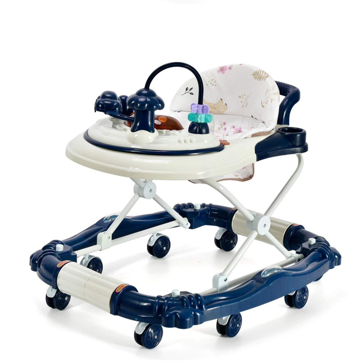 LZ Bebé niño Andador multifunción antivuelco Empuje de Mano niño ...