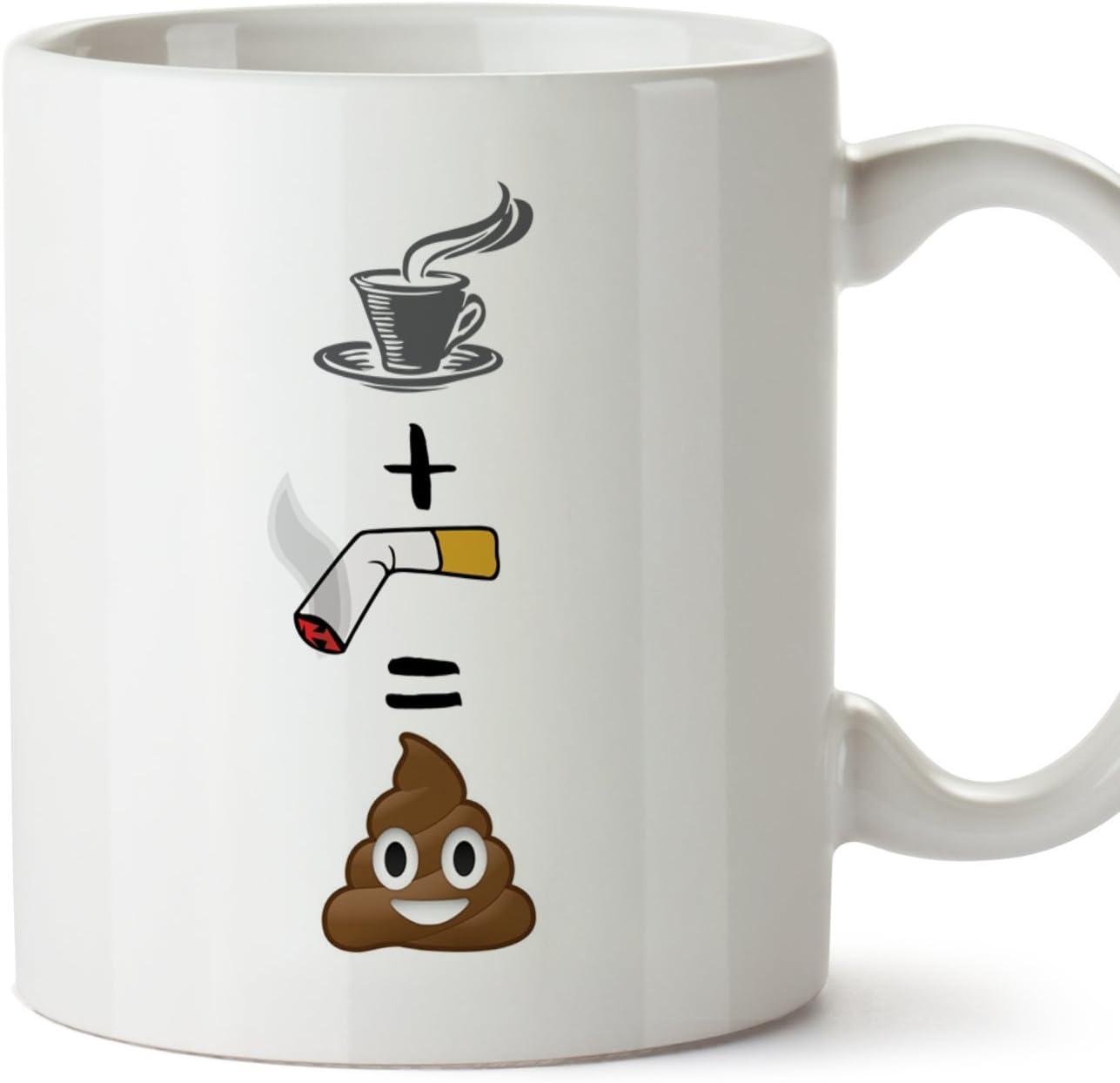 Tasse pour le petit-déjeuner originale et amusante. Café/clope/toilette Tasses avec un message rigolo. Cadeau pour amies ou à offrir a la famille.