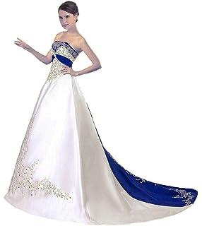 Hochzeitsmode Vantexi Damen Halfter Stickerei Satin Hochzeitskleid Brautkleider VDE8818