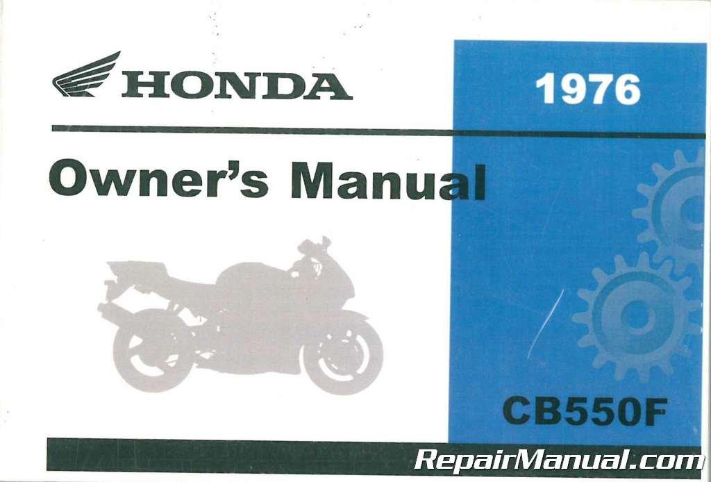 3139001 1976 Honda CB550K Four Motorcycle Owners Manual pdf